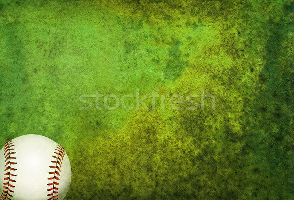 Textured Baseball Field Background with Ball Stock photo © enterlinedesign