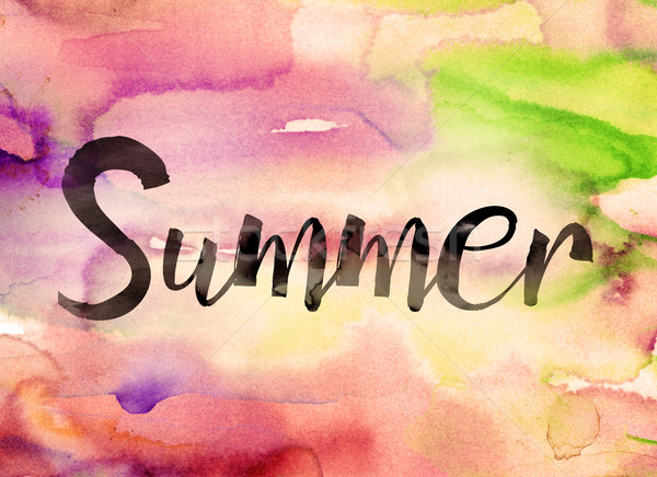 Summer Concept Watercolor Theme Stock photo © enterlinedesign