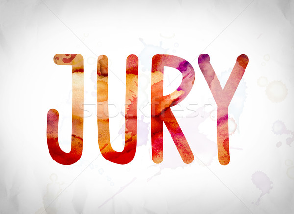 Jury Concept Watercolor Word Art Stock photo © enterlinedesign