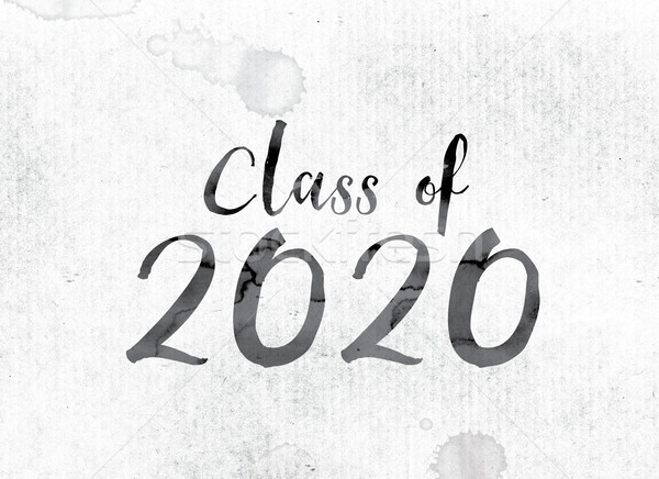 Class of 2020 Concept Painted in Ink Stock photo © enterlinedesign