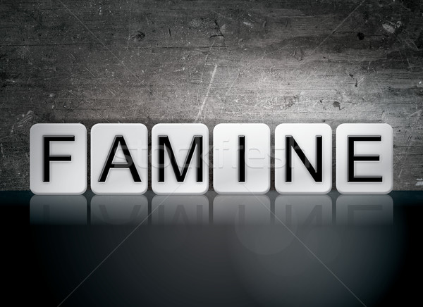 Famine Tiled Letters Concept and Theme Stock photo © enterlinedesign
