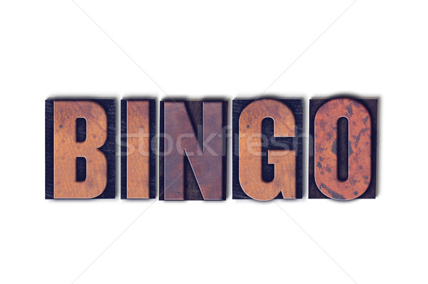 Bingo Concept Isolated Letterpress Word Stock photo © enterlinedesign