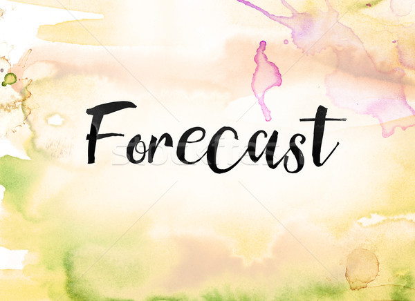 Forecast Concept Watercolor and Ink Painting Stock photo © enterlinedesign