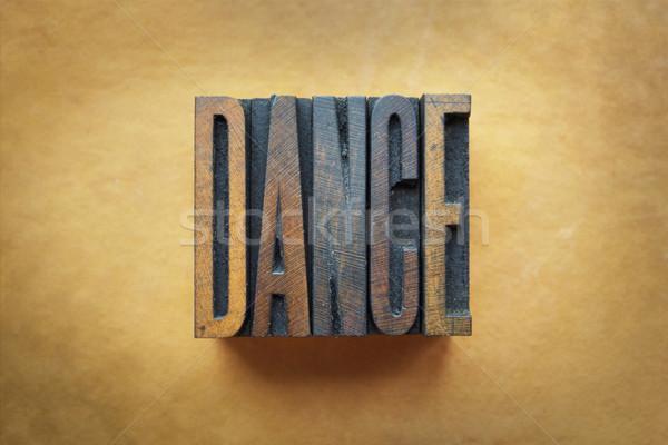 Dans kelime yazılı bağbozumu tip Stok fotoğraf © enterlinedesign