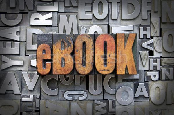 Ebook escrito vintage tipo livro Foto stock © enterlinedesign