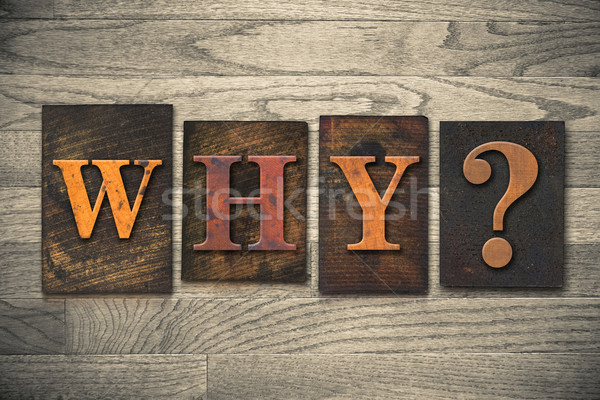 Why Wooden Letterpress Concept Stock photo © enterlinedesign