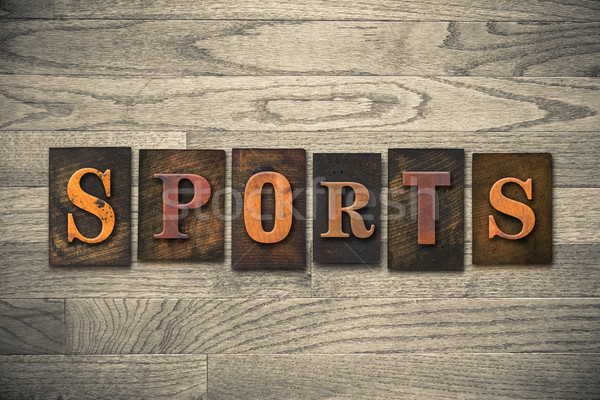 Sports Wooden Letterpress Theme Stock photo © enterlinedesign