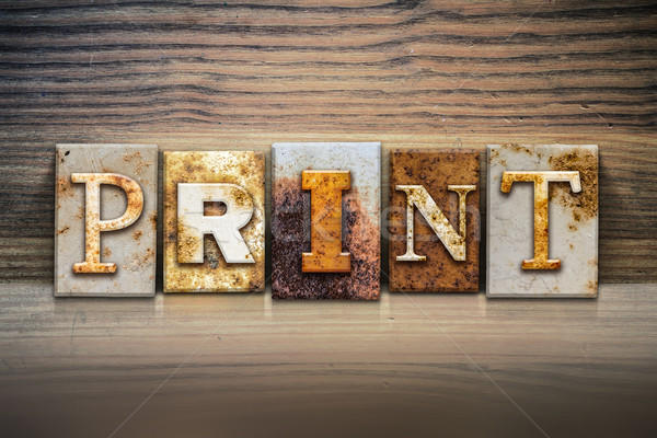 Print Concept Letterpress Theme Stock photo © enterlinedesign