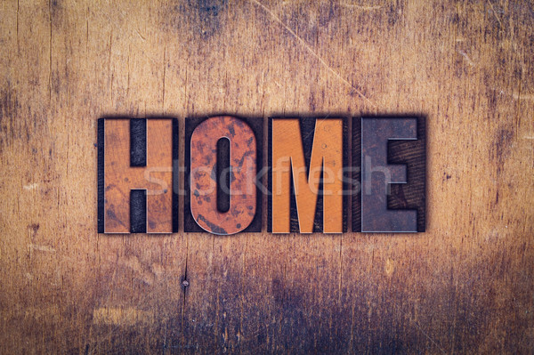 Stock photo: Home Concept Wooden Letterpress Type