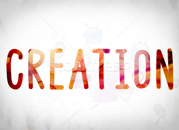 Creation Concept Watercolor Word Art Stock photo © enterlinedesign