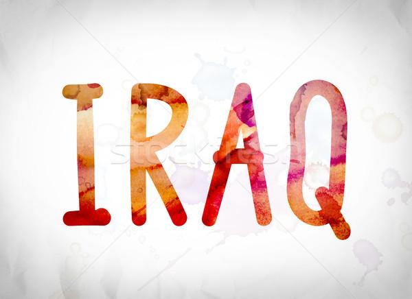Iraq Concept Watercolor Word Art Stock photo © enterlinedesign