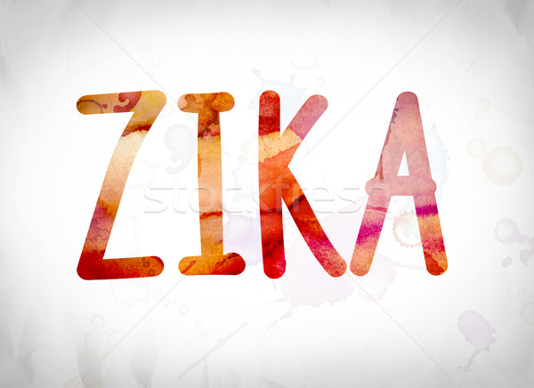 Zika Concept Watercolor Word Art Stock photo © enterlinedesign