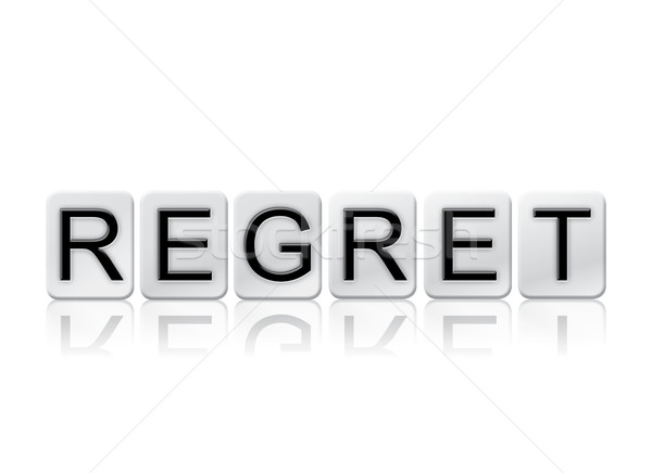Regret Isolated Tiled Letters Concept and Theme Stock photo © enterlinedesign