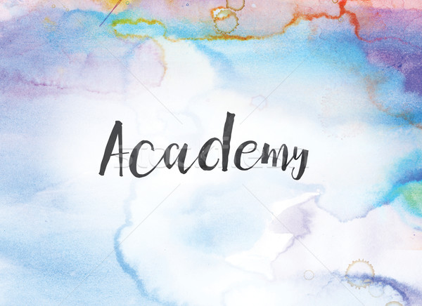 Academy Concept Watercolor and Ink Painting Stock photo © enterlinedesign
