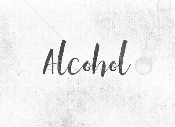 Alcohol Concept Painted Ink Word and Theme Stock photo © enterlinedesign