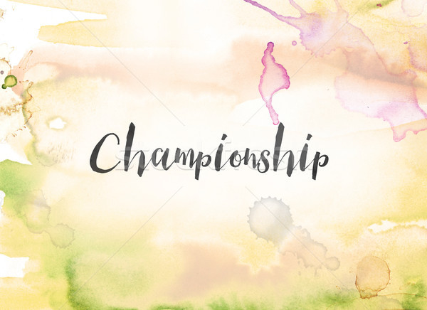 Championship Concept Watercolor and Ink Painting Stock photo © enterlinedesign