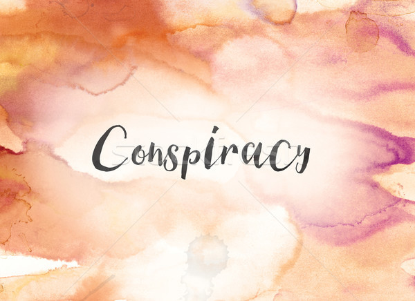 Conspiracy Concept Watercolor and Ink Painting Stock photo © enterlinedesign