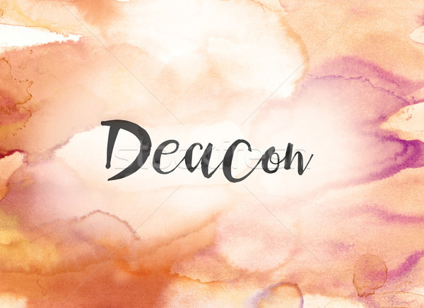 Deacon Concept Watercolor and Ink Painting Stock photo © enterlinedesign