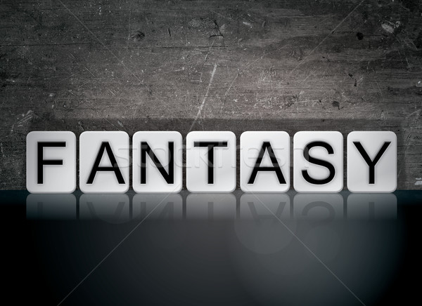 Stock photo: Fantasy Concept Tiled Word