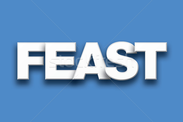 Feast Theme Word Art on Colorful Background Stock photo © enterlinedesign
