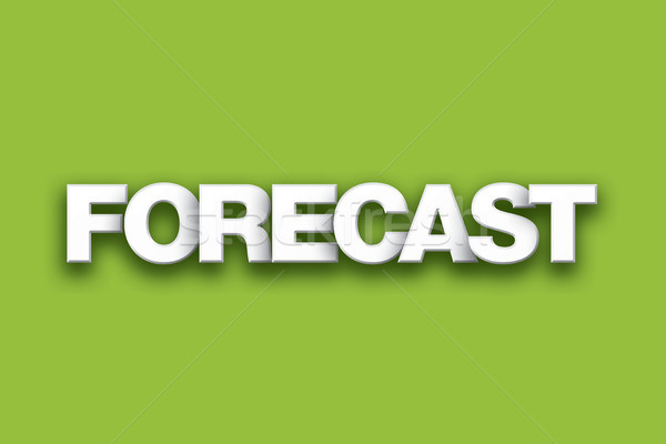Forecast Theme Word Art on Colorful Background Stock photo © enterlinedesign