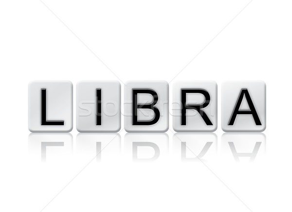 Libra Concept Tiled Word Isolated on White Stock photo © enterlinedesign