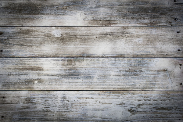 Weathered Old Wooden Boards Background Stock photo © enterlinedesign