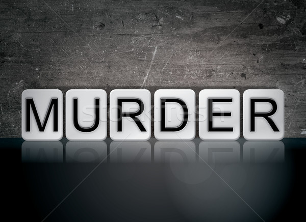 Murder Concept Tiled Word Stock photo © enterlinedesign