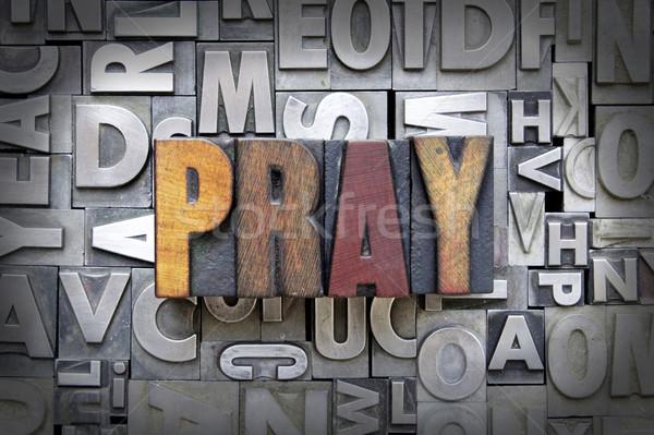 Pregare scritto vintage tipo design Foto d'archivio © enterlinedesign