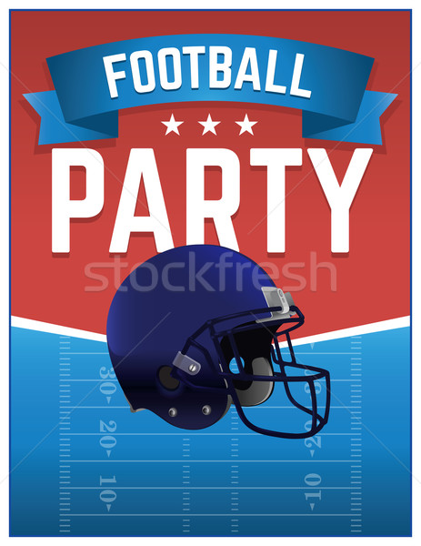 American Football Party Illustration Stock photo © enterlinedesign