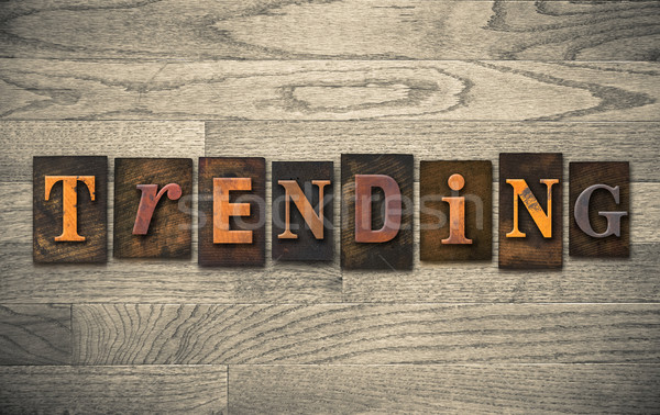 Trending Wooden Letterpress Concept Stock photo © enterlinedesign