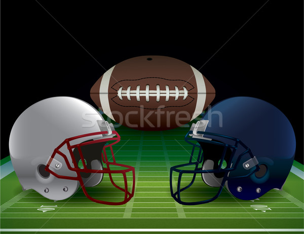 American Football Bowl Game Illustration Stock photo © enterlinedesign