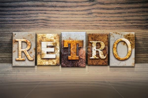 Retro Concept Letterpress Theme Stock photo © enterlinedesign