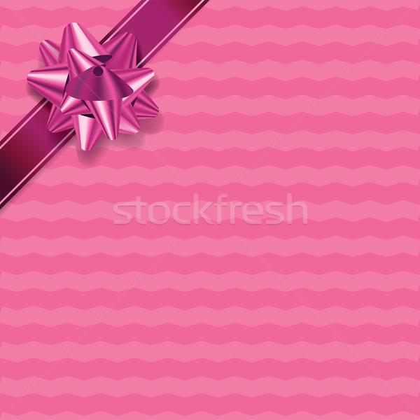 Pink Chevron Pattern Present Background Stock photo © enterlinedesign