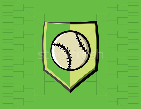 Baseball Emblem and Tournament Background Stock photo © enterlinedesign