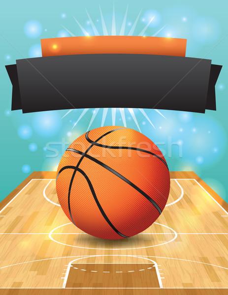 Vettore basket flyer legno duro giudice illustrazione Foto d'archivio © enterlinedesign
