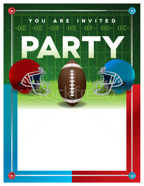 American Football Party Flyer Template Stock photo © enterlinedesign