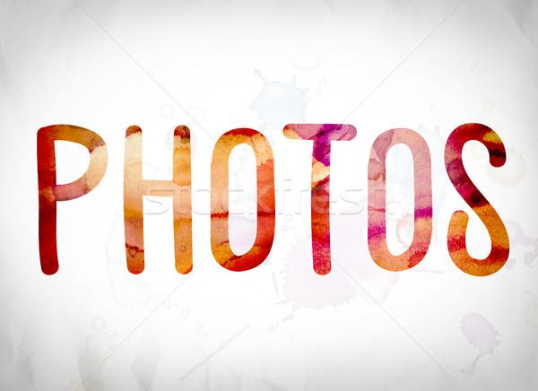Photos Concept Watercolor Word Art Stock photo © enterlinedesign