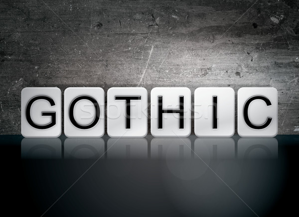 Gothic Tiled Letters Concept and Theme Stock photo © enterlinedesign