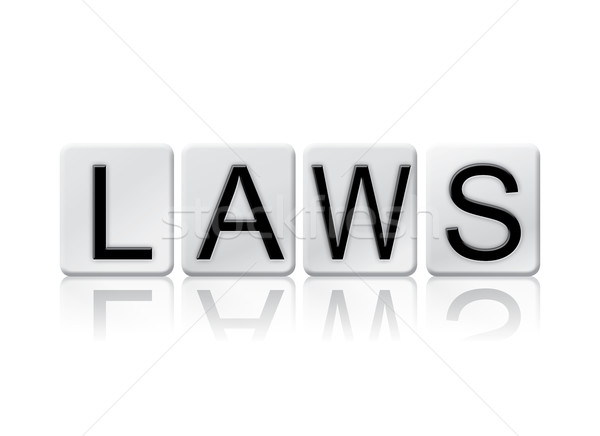Laws Isolated Tiled Letters Concept and Theme Stock photo © enterlinedesign