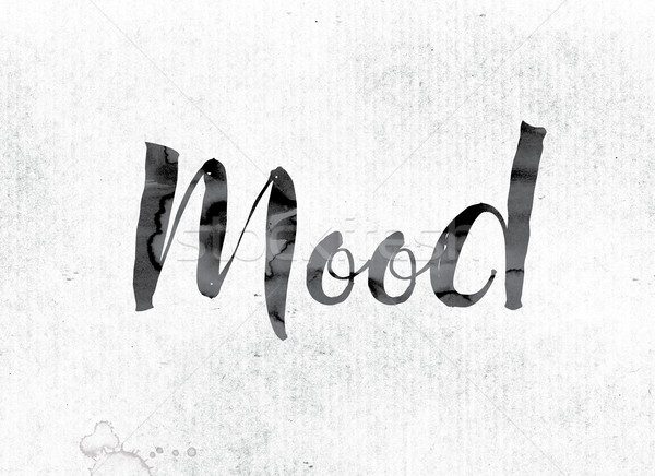 Mood Concept Painted in Ink Stock photo © enterlinedesign
