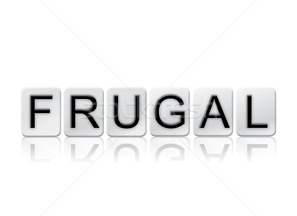 Frugal Concept Tiled Word Isolated on White Stock photo © enterlinedesign