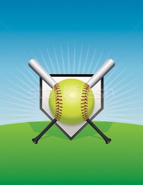 Slow pitch softball cartoon