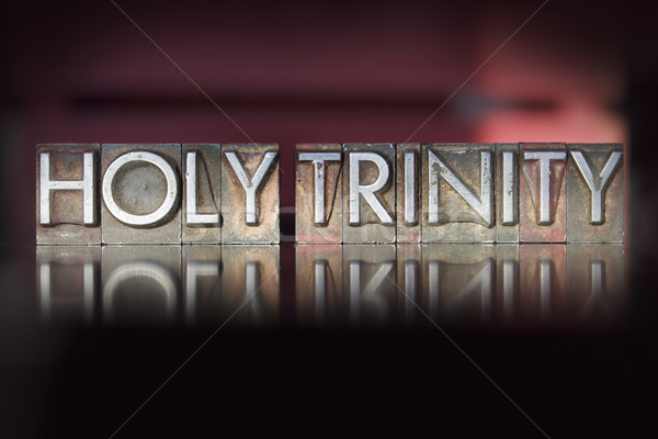Holy Trinity Letterpress Stock photo © enterlinedesign