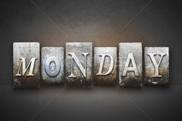 Monday Letterpress Stock photo © enterlinedesign