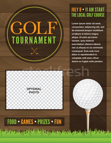Golf Tournament Flyer Illustration Stock photo © enterlinedesign