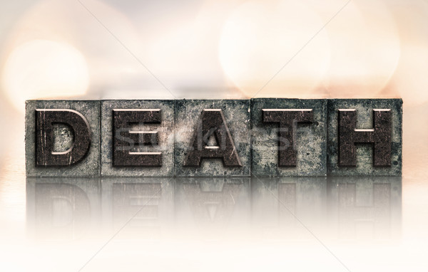 Dood vintage type woord geschreven Stockfoto © enterlinedesign