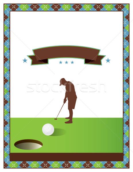 Golf toernooi flyer sjabloon uitnodiging vector Stockfoto © enterlinedesign