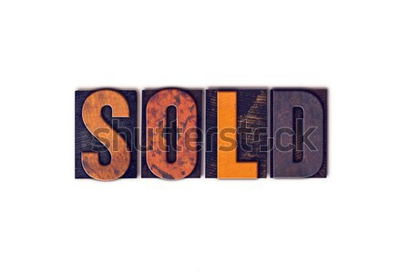 Sold Concept Isolated Letterpress Type Stock photo © enterlinedesign