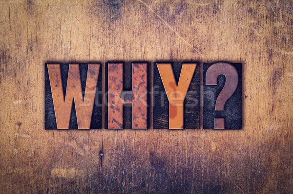Why Concept Wooden Letterpress Type Stock photo © enterlinedesign
